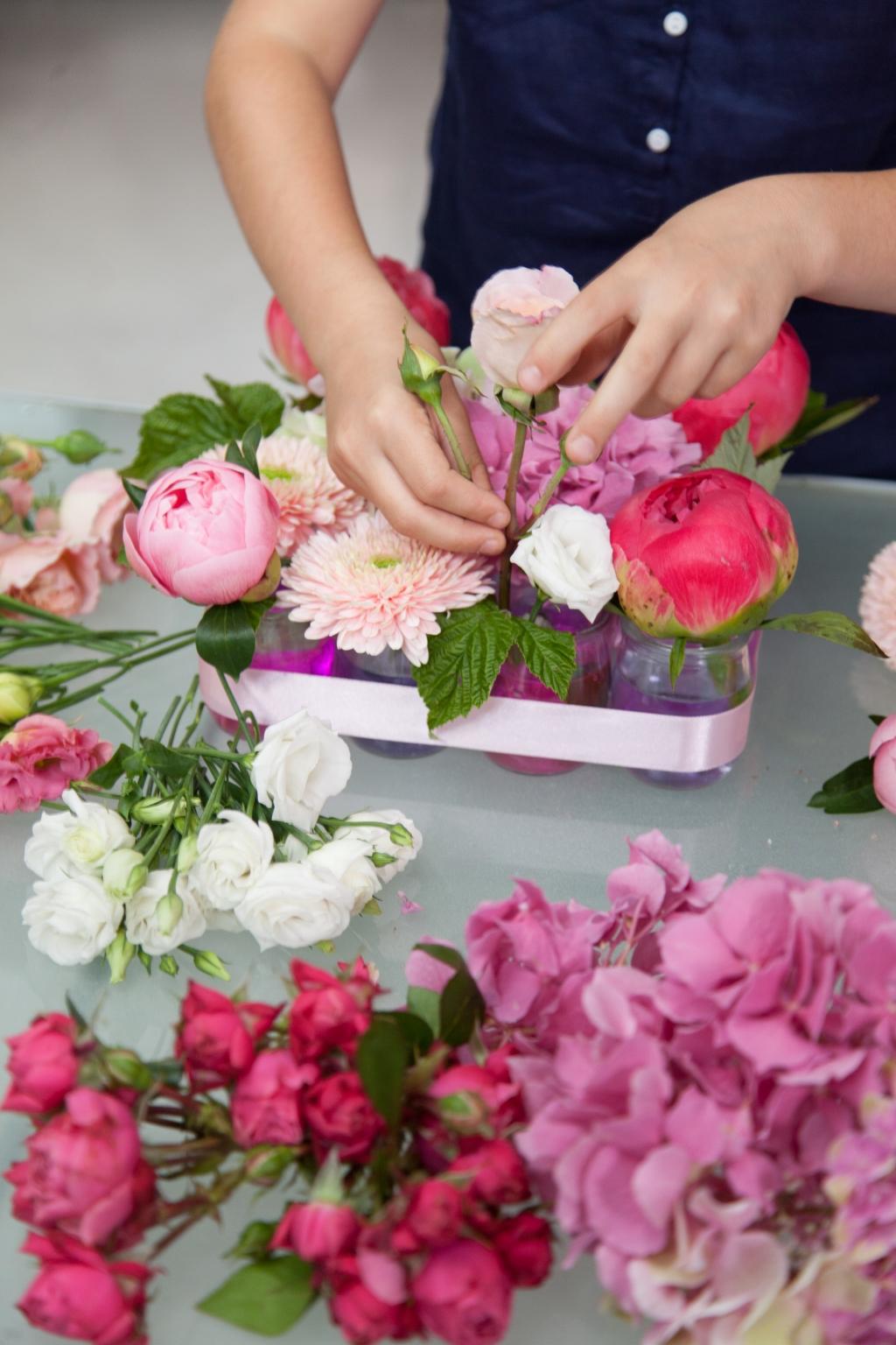 Composition florale pour la fête des mères - Etape 11