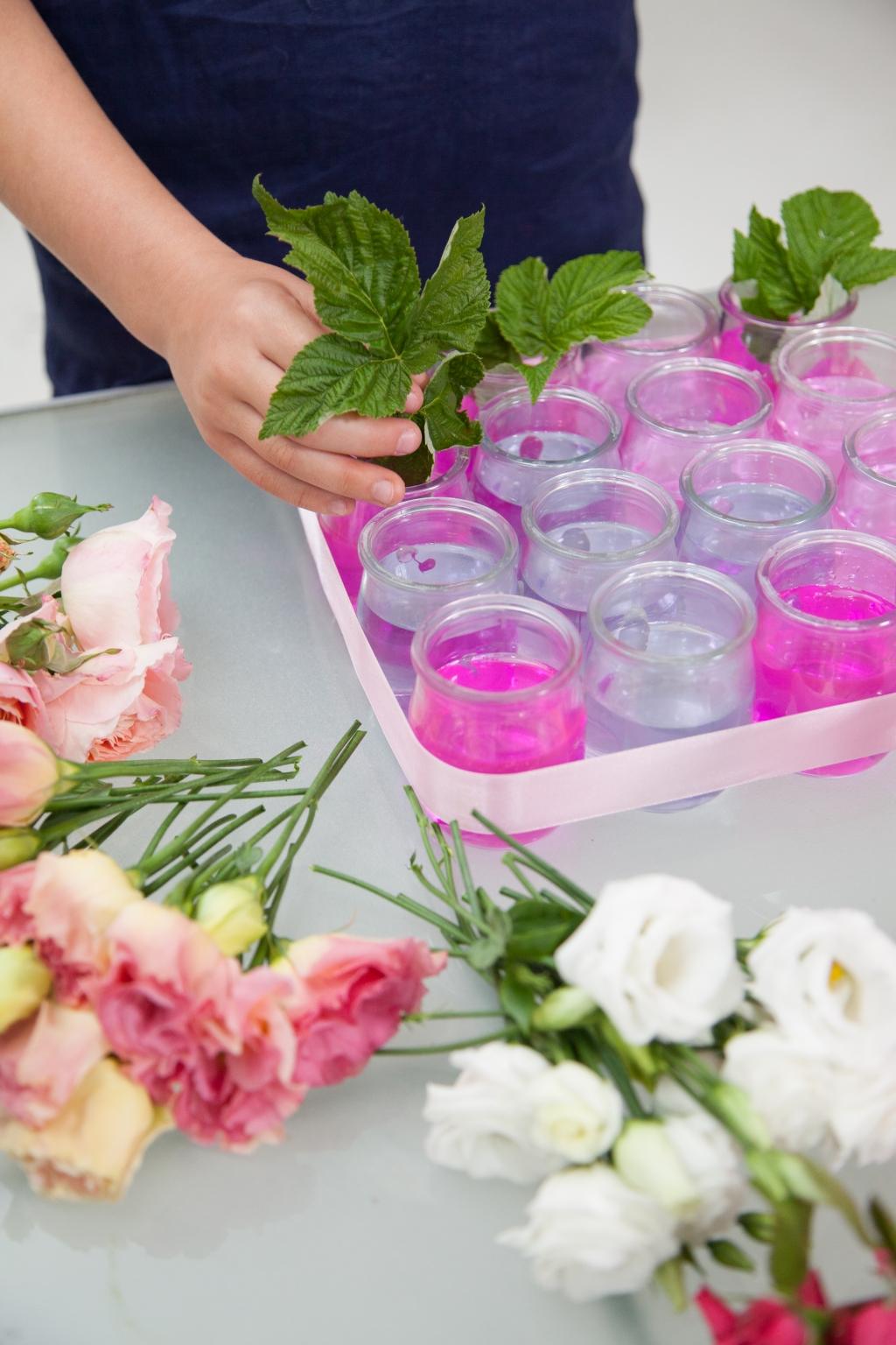 Composition florale pour la fête des mères - Etape 9