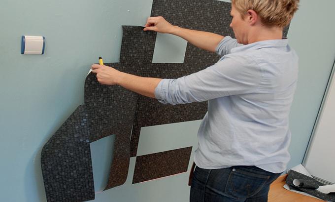 Créer une tête de lit pour ado en papier peint