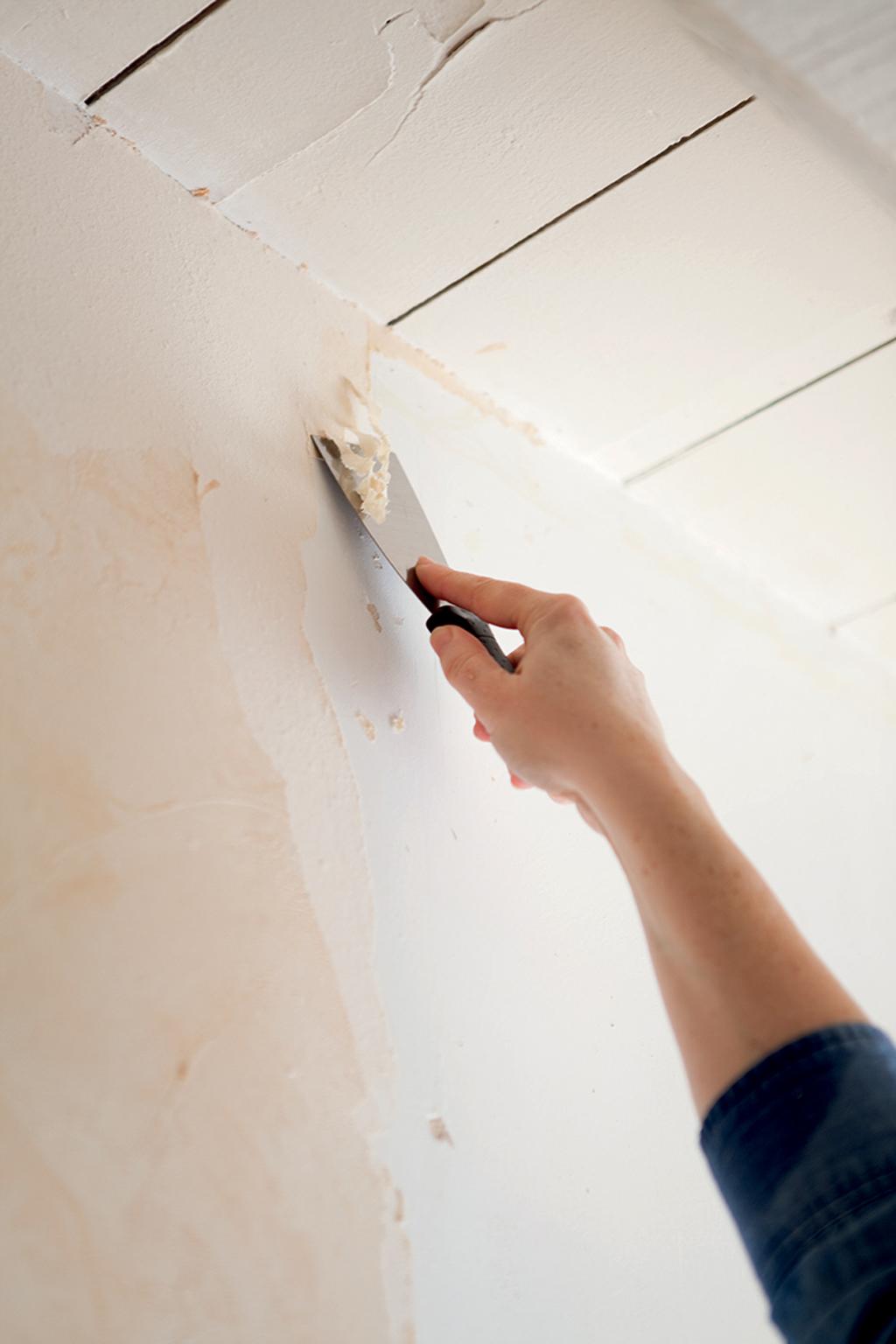 D coller du papier peint l 39 eau chaude diy family - Comment decoller du papier peint facilement ...