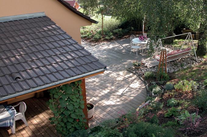 Réussir les arrondis d'une terrasse en bois :