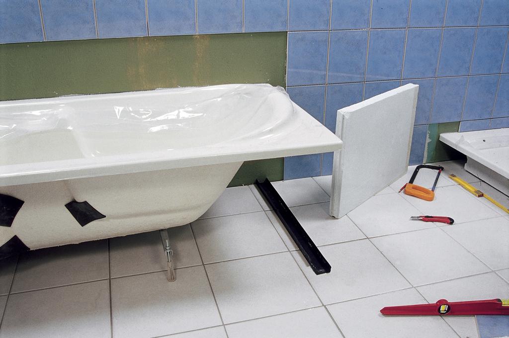 Réaliser le tablier d'une baignoire