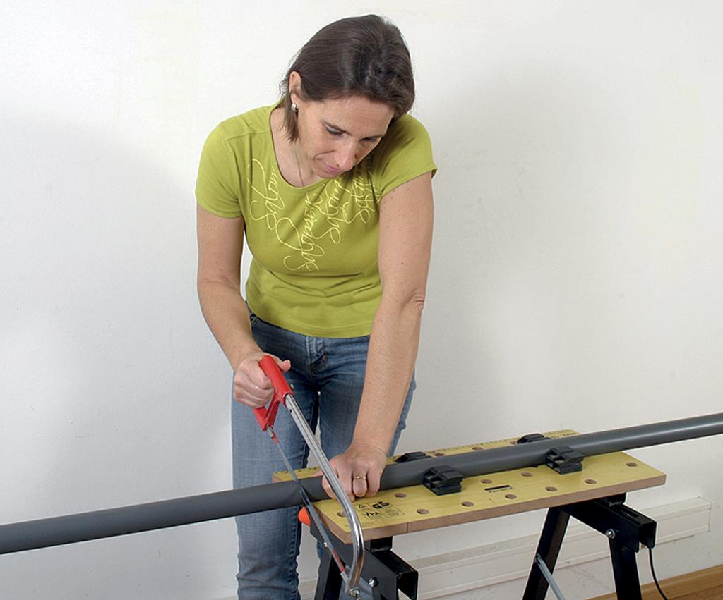 Assembler du tube PVC évacuation
