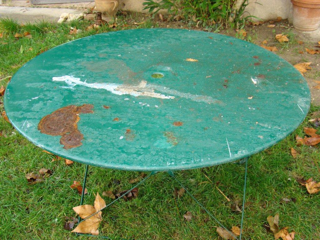 Renover du mobilier du jardin en fer