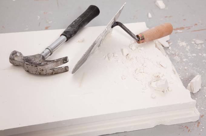Réparer un mur en plâtre :