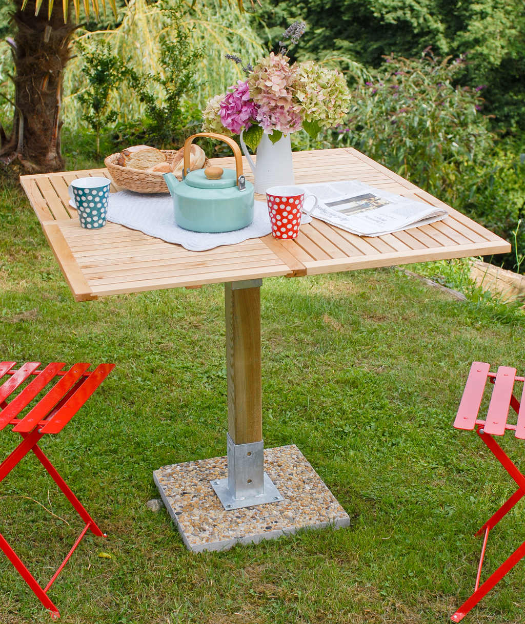 cr er une table de jardin diy family