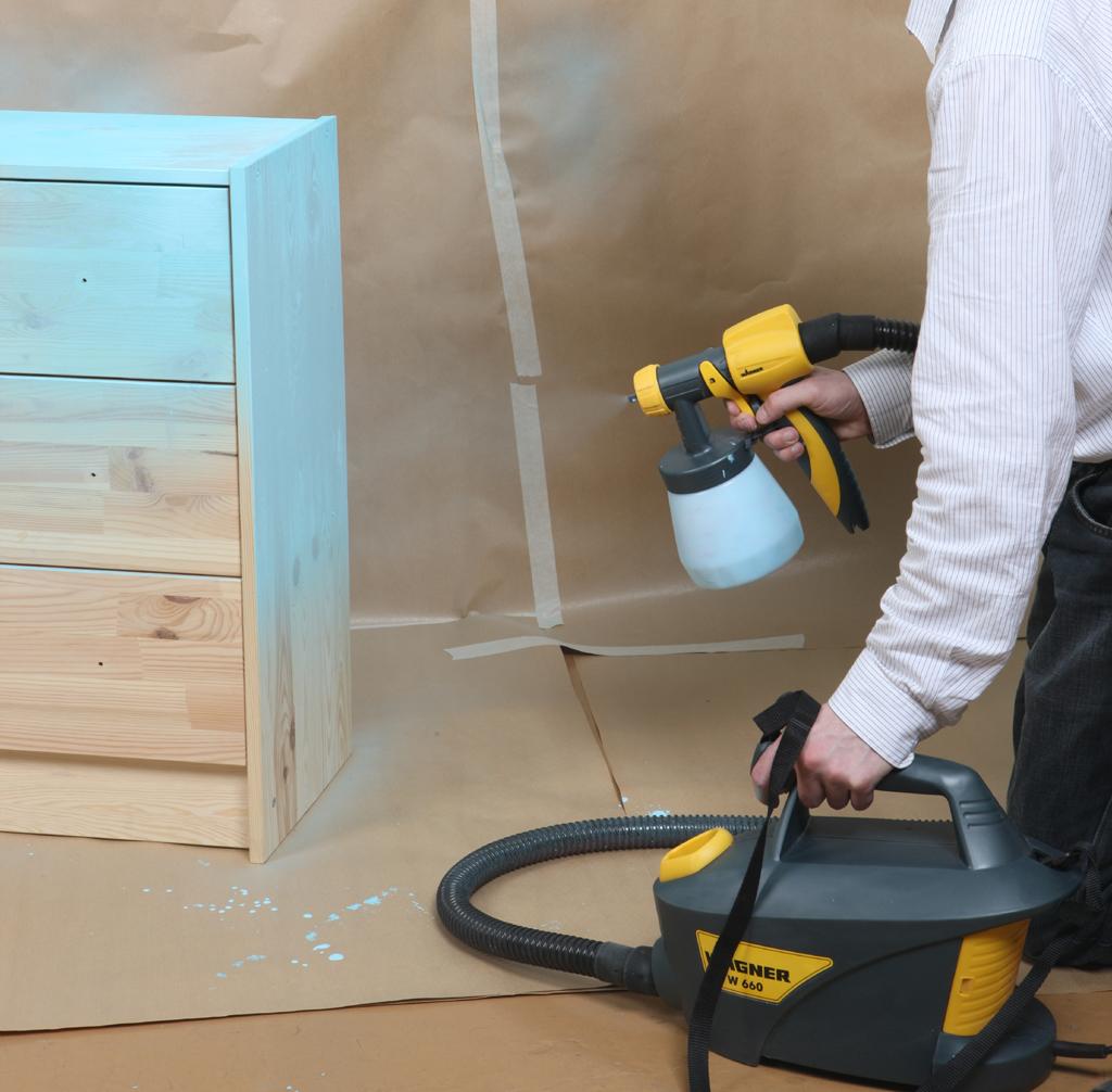 peindre un meuble au pistolet diy family. Black Bedroom Furniture Sets. Home Design Ideas