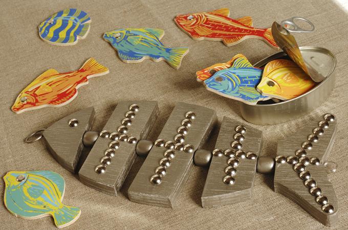 Fabriquer un dessous de plat en forme de poisson