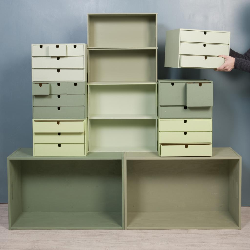 Transformer des boites en bibliothèque