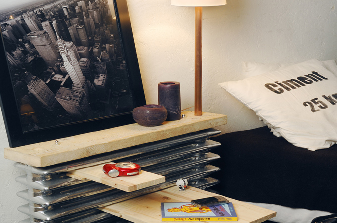Transformer un radiateur en table de chevet