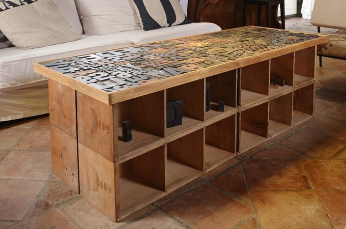 Cr er une table basse en lettres d 39 imprimerie diy family - Creer une table basse ...