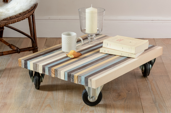 Fabriquer une table basse avec des planches diy family - Fabriquer sa table de salon ...