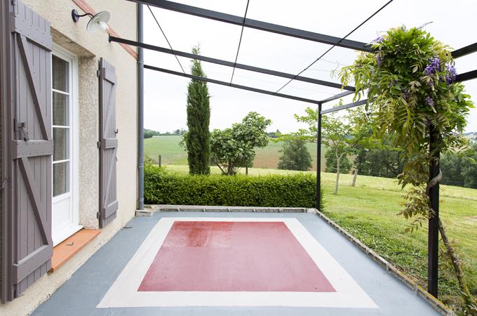 peindre un sol b ton d 39 ext rieur diy family. Black Bedroom Furniture Sets. Home Design Ideas