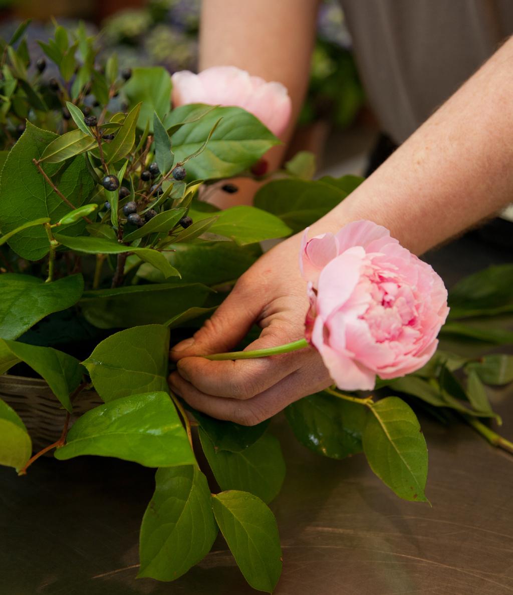 Comment composer un bouquet en panier ?