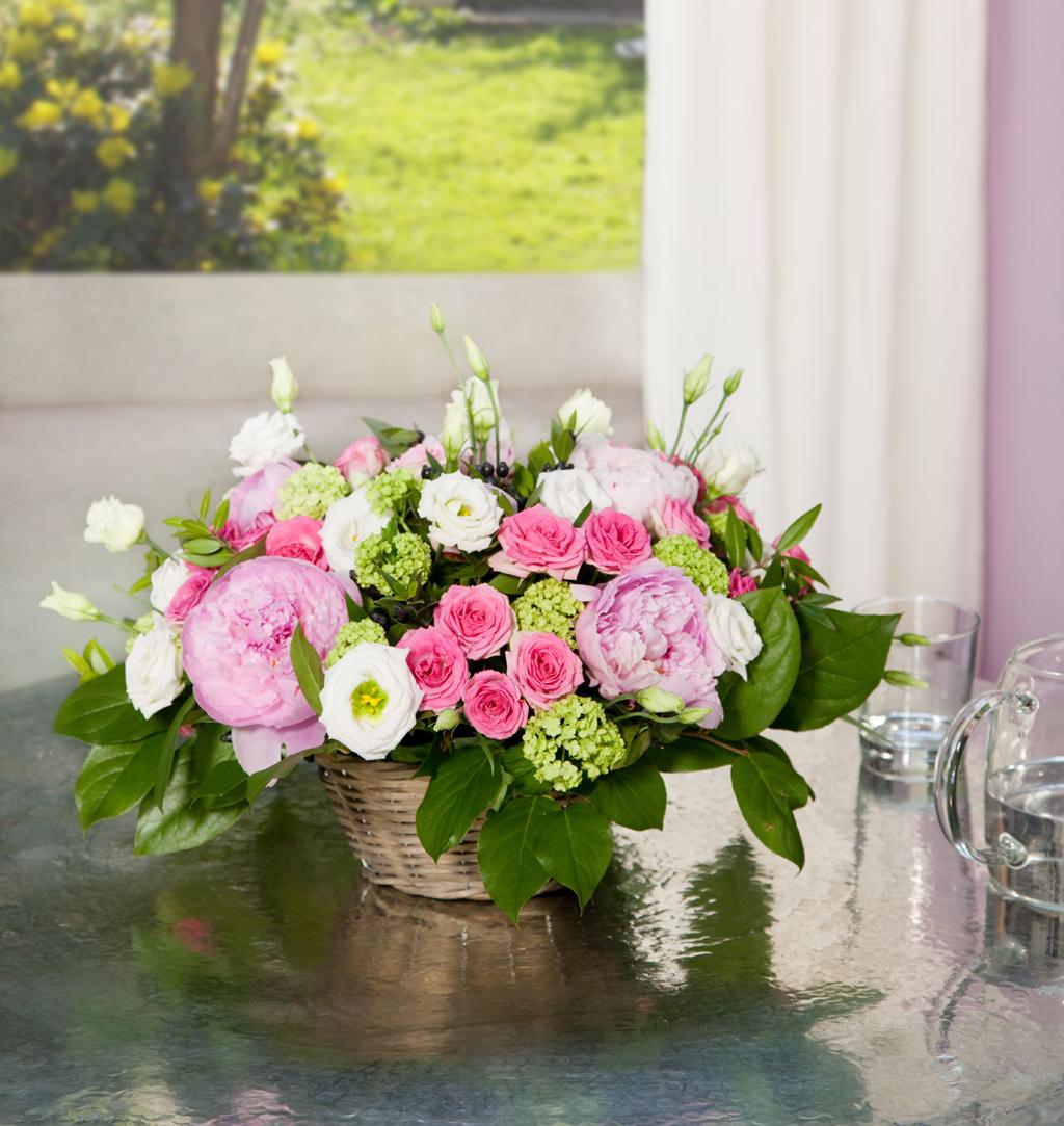 Composer un bouquet en panier