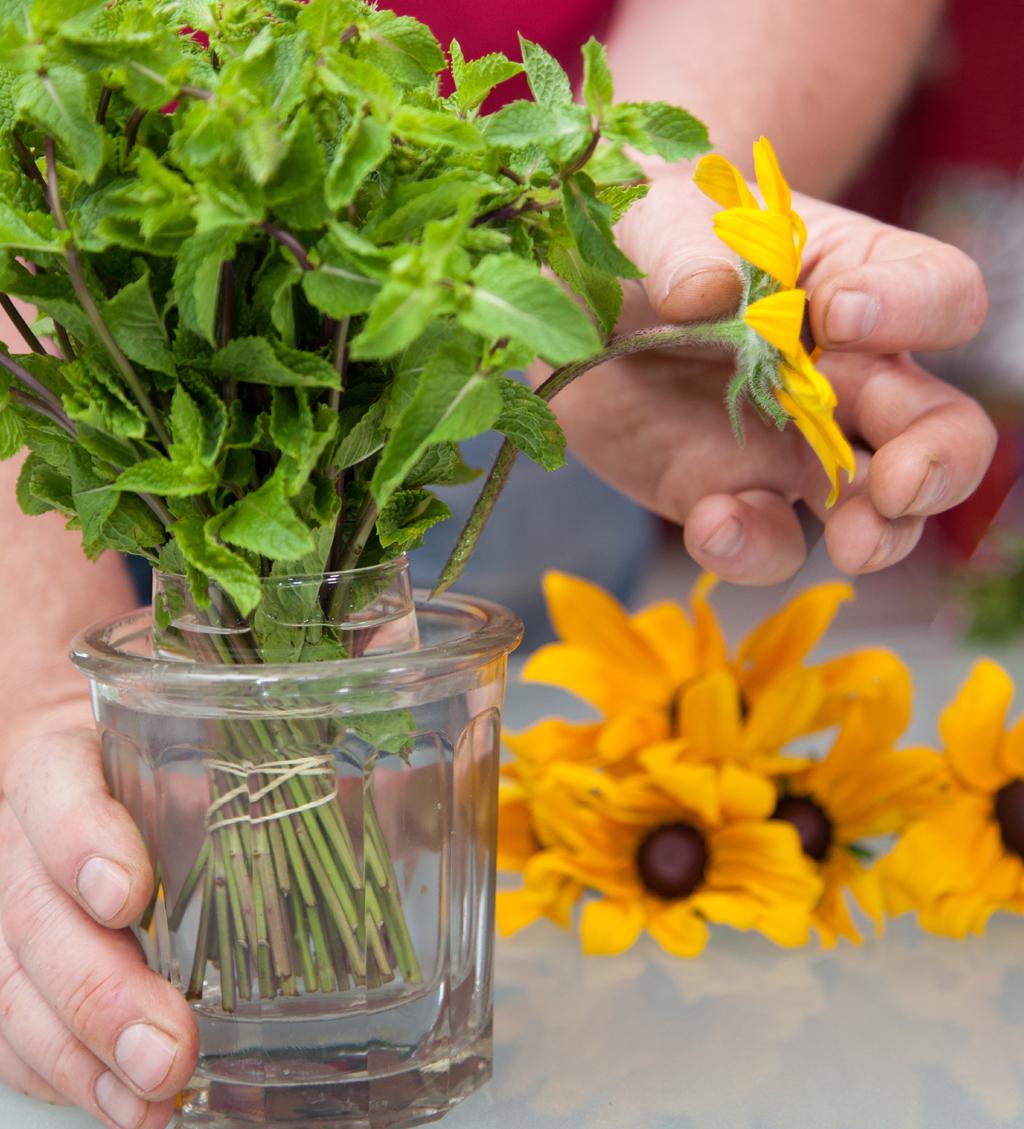 Mettre des fleurs dans sa cuisine