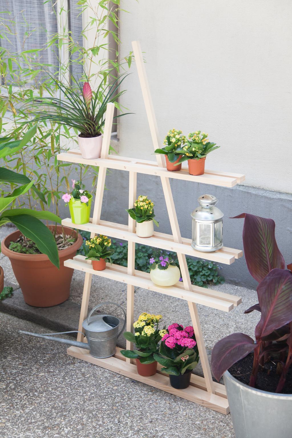 Faire une etagere pour plantes Tasso