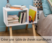 Créer une table de chevet scandinave
