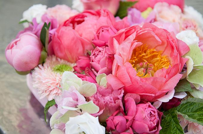 Composition florale pour la fête des mères