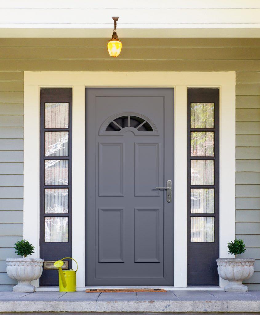 Repeindre une porte d'entrée en PVC Après