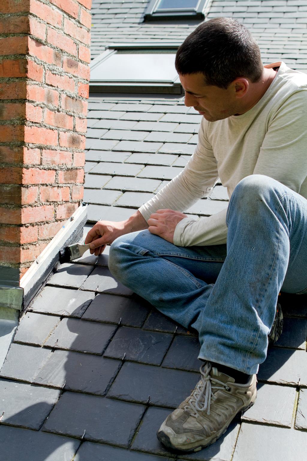 Etanchéifier un pied de cheminée