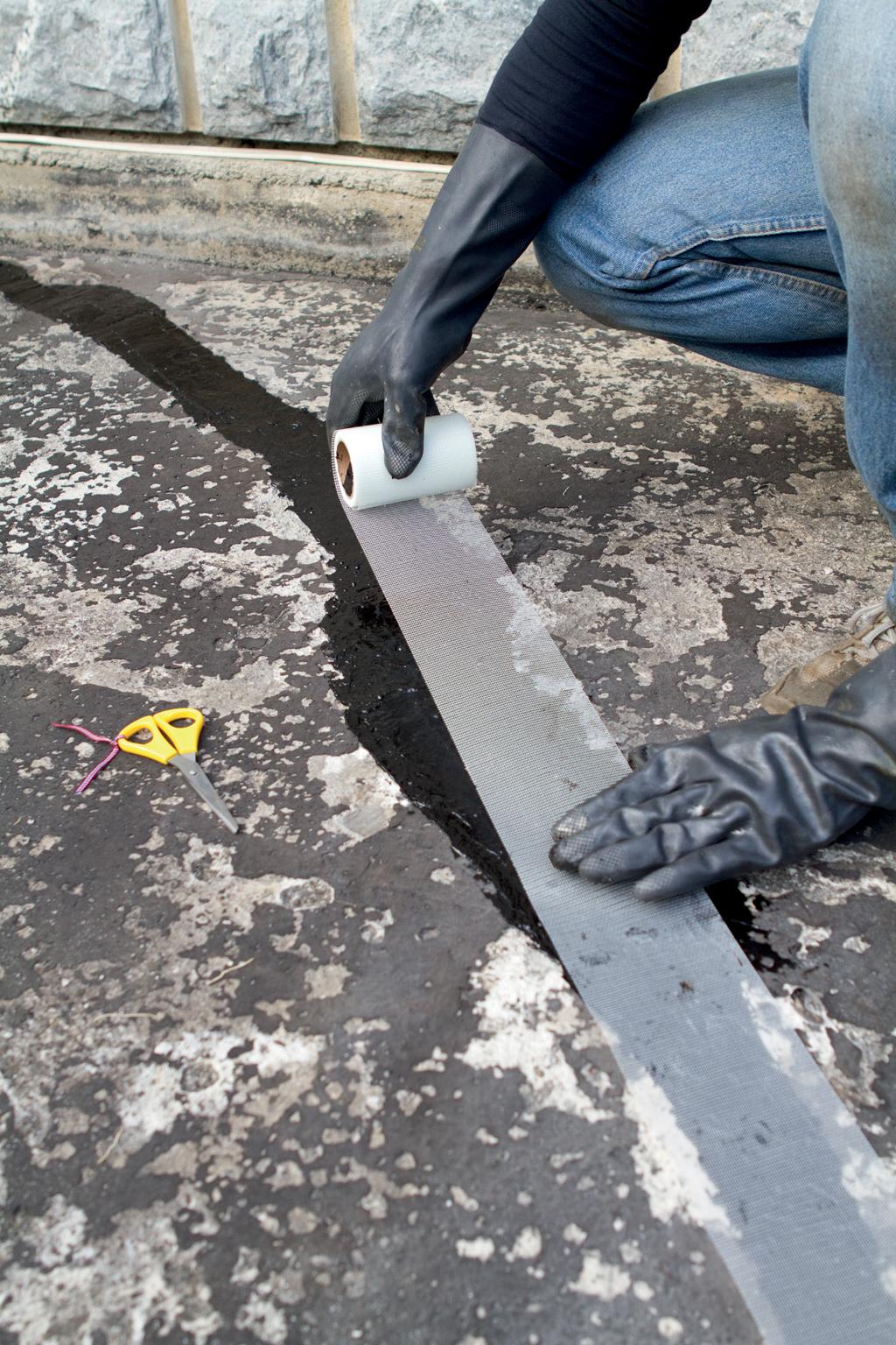 Réparer une fuite sur un toit-terrasse