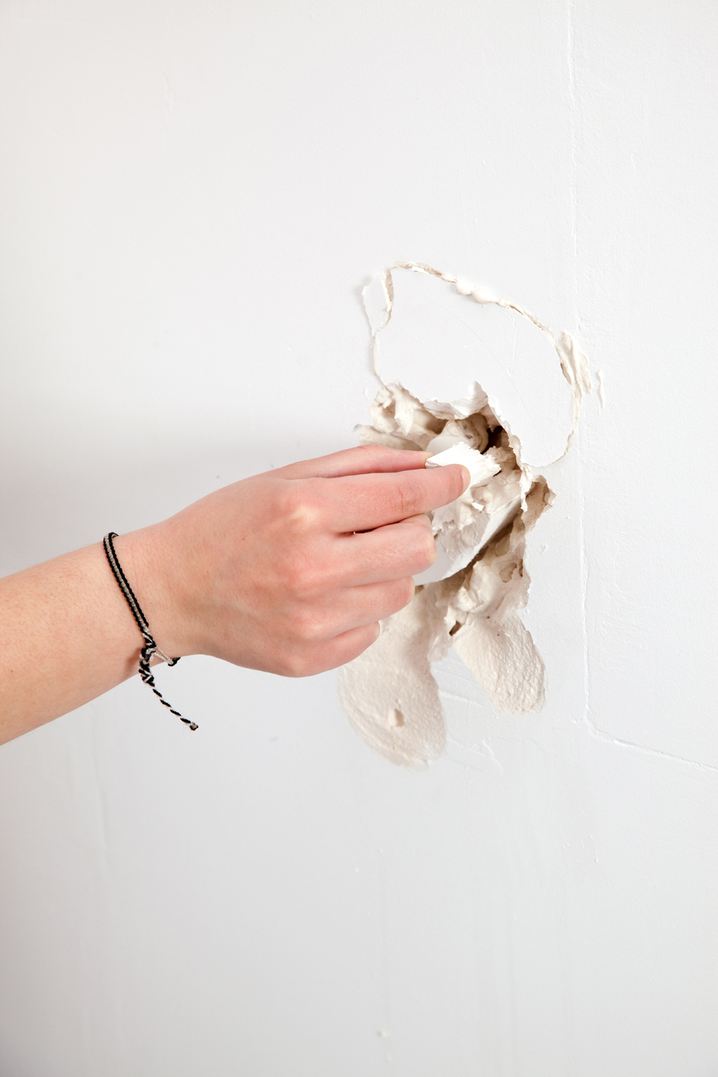 Réparer un mur en plâtre