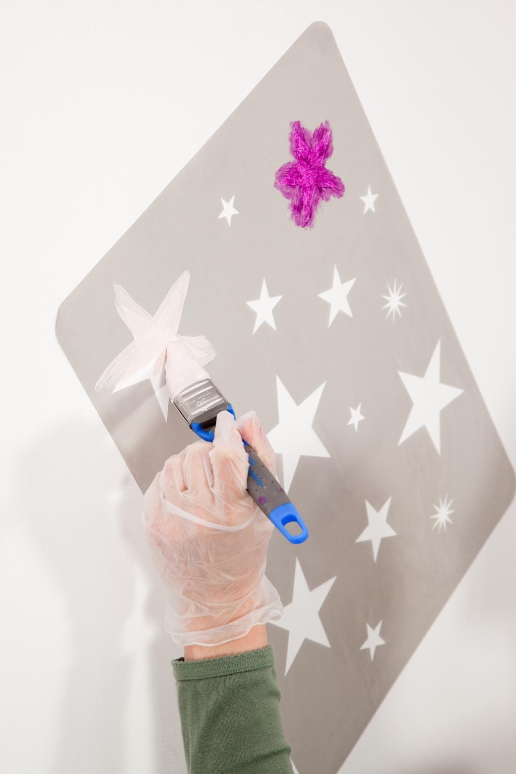 Peindre Un Motif Sur Un Mur Diy Family