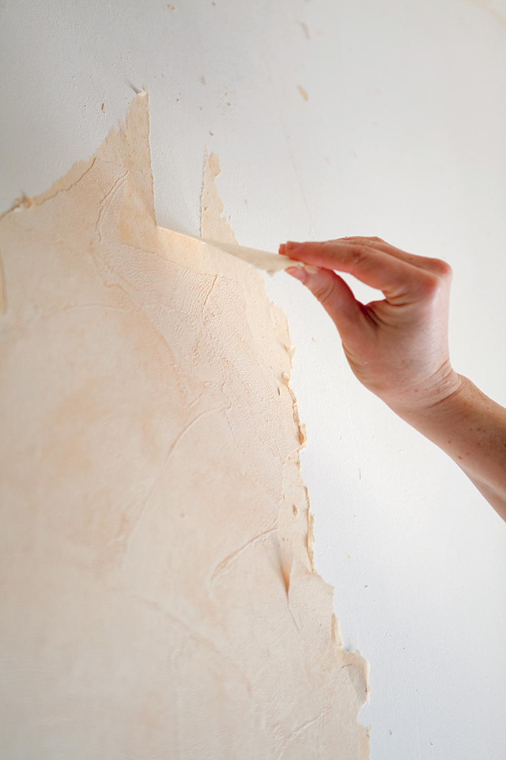 Spatule Décoller Papier Peint décoller du papier peint à l'eau chaude | diy family