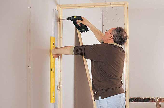 poser un bloc porte dans une cloison en pl tre ossature m tallique diy family. Black Bedroom Furniture Sets. Home Design Ideas