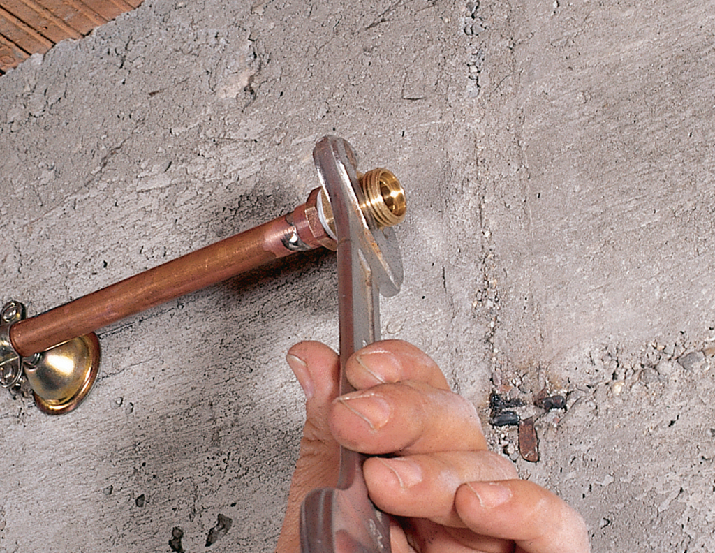 Raccordement cuivre PER avec un raccord à soude