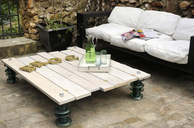 Cr er une table basse avec des isolateurs diy family - Creer une table basse ...