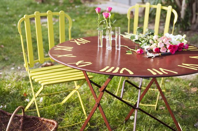 Renover du mobilier du jardin en fer :