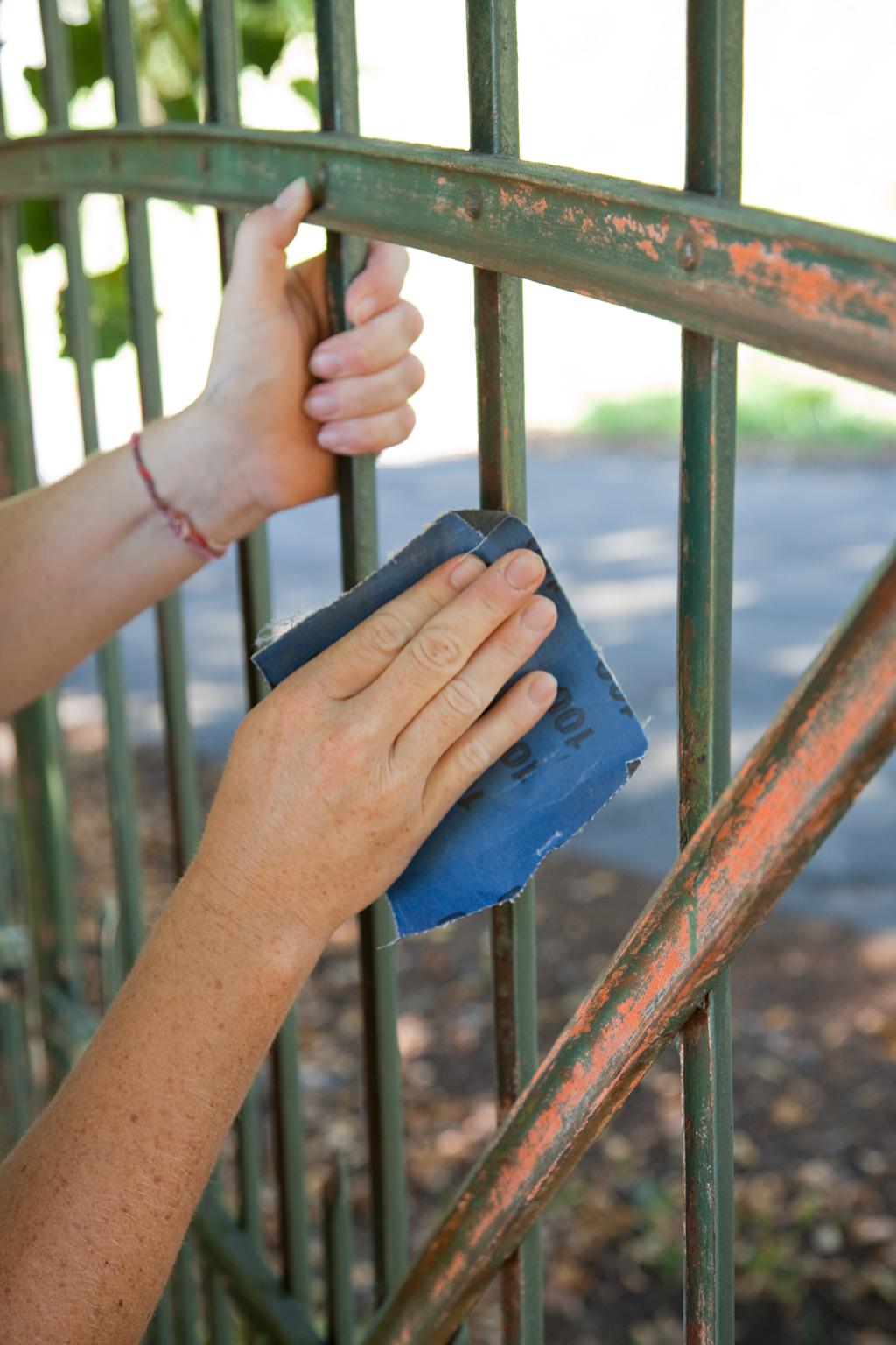 Renover une grille en fer forge
