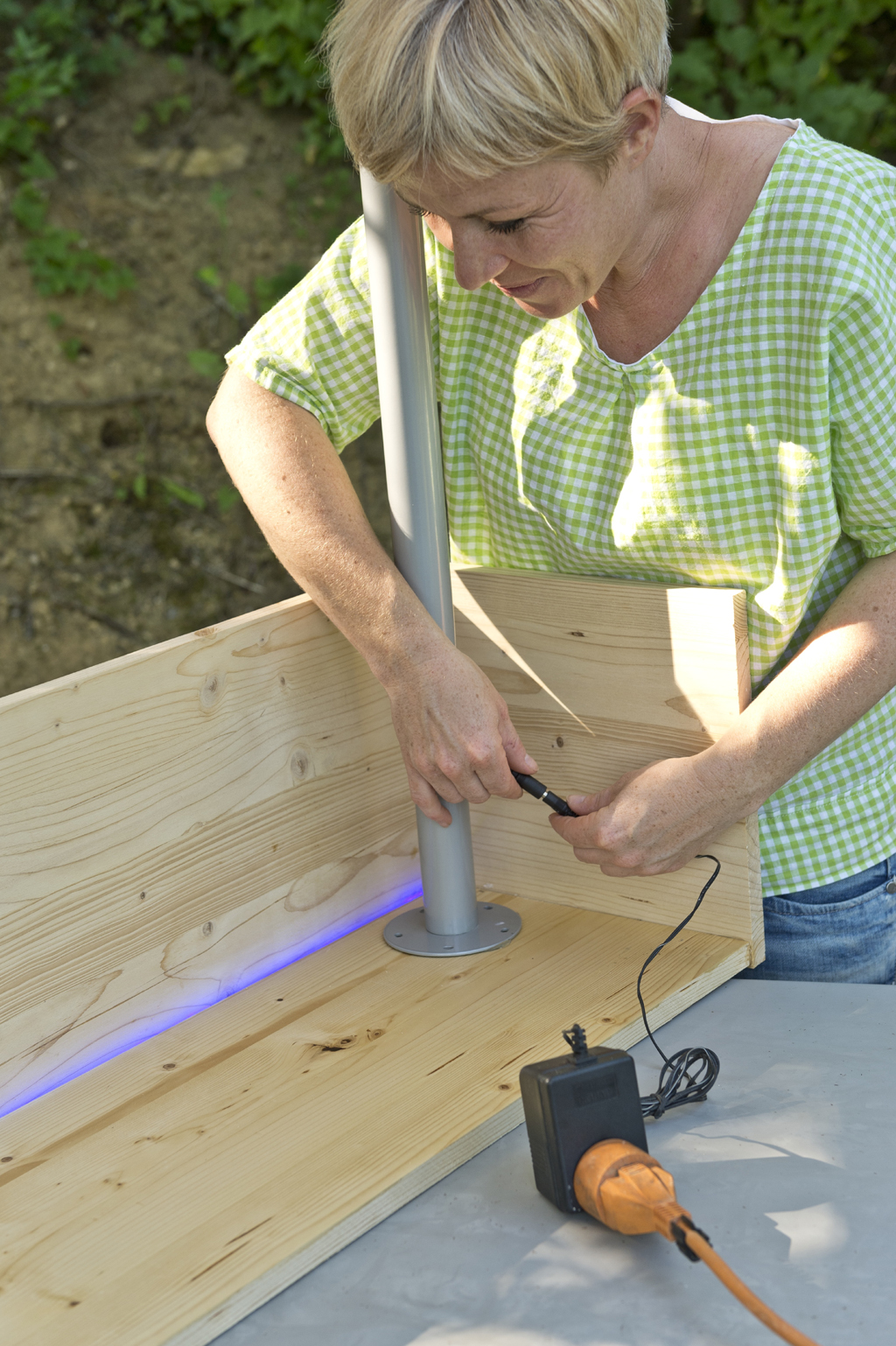 Fabriquer une console lumineuse