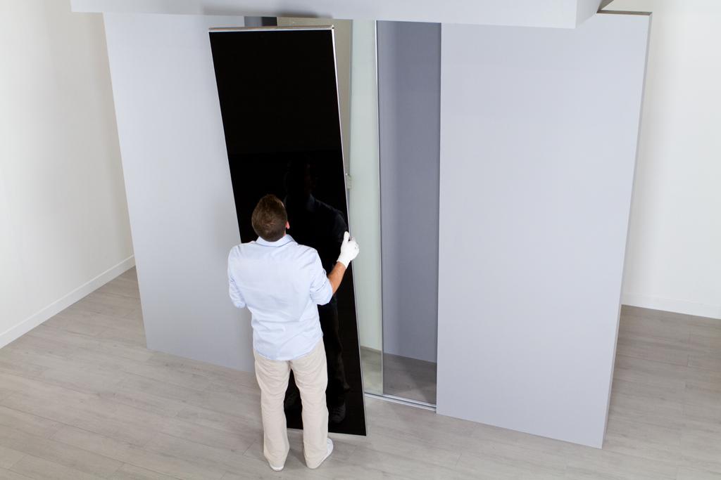 Poser des portes de placard coulissantes diy family - Poser porte placard ...