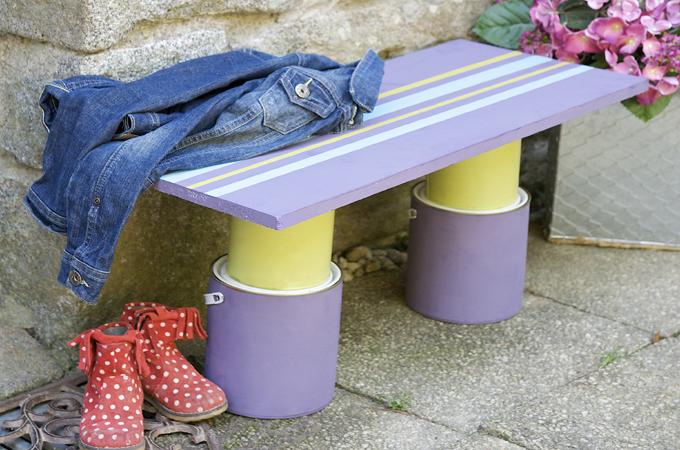 Fabriquer un petit banc d 39 ext rieur diy family for Petit banc exterieur