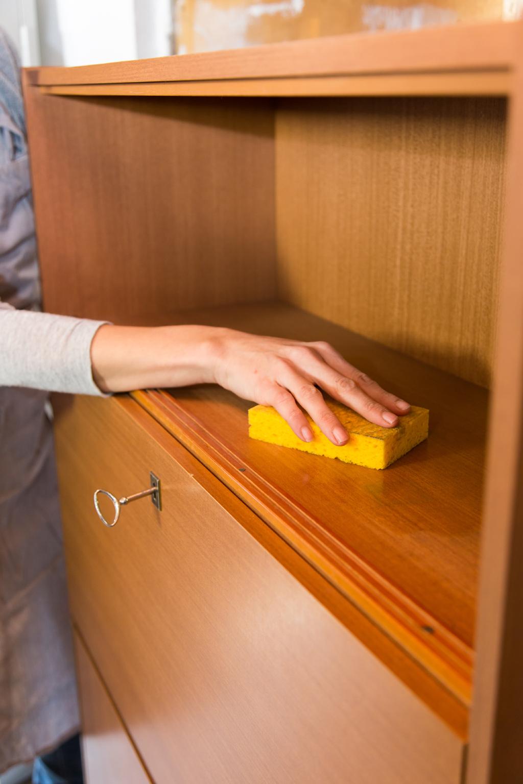 Moderniser un secrétaire avec un effet tableau