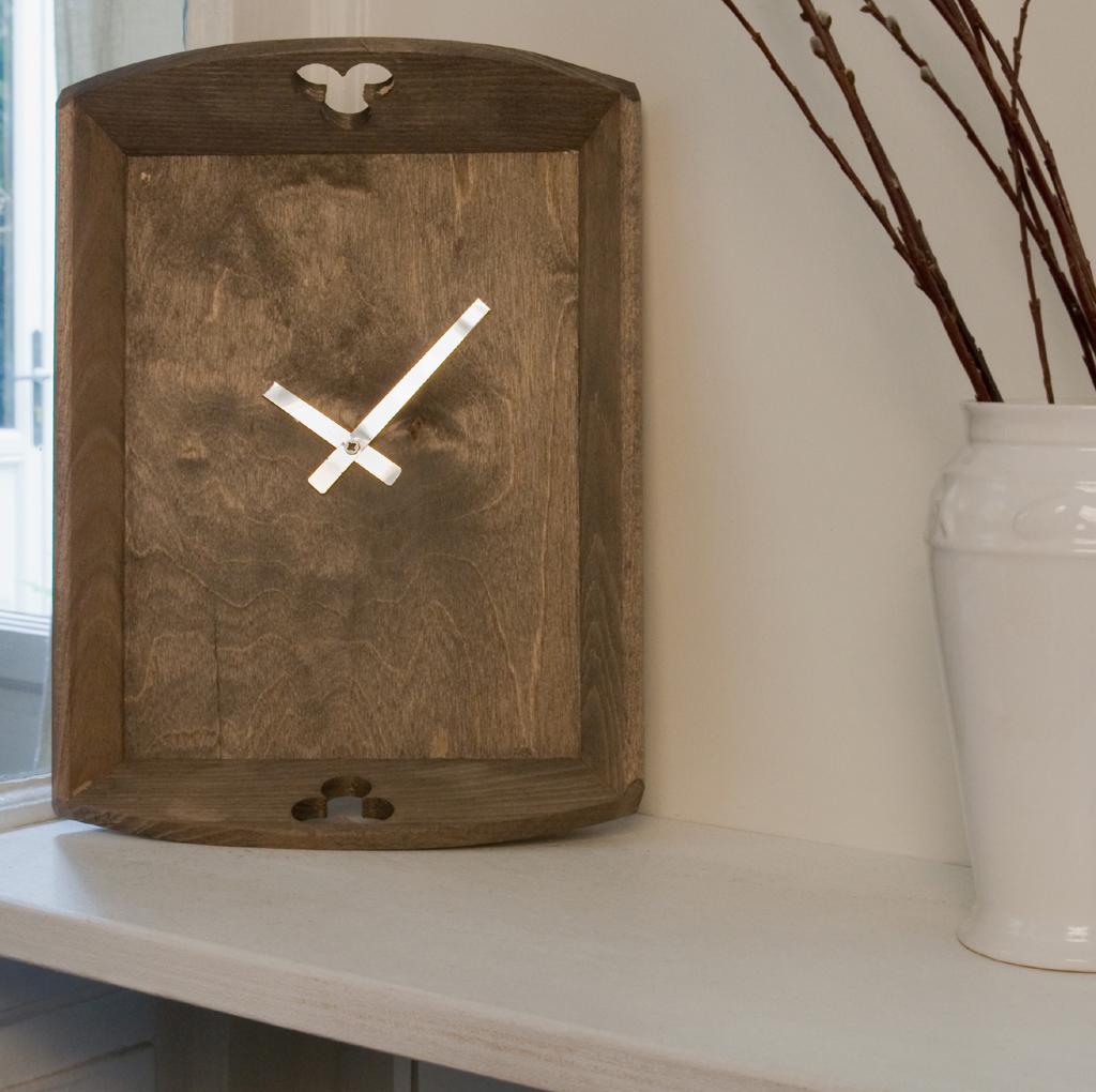 Transformer un plateau en horloge