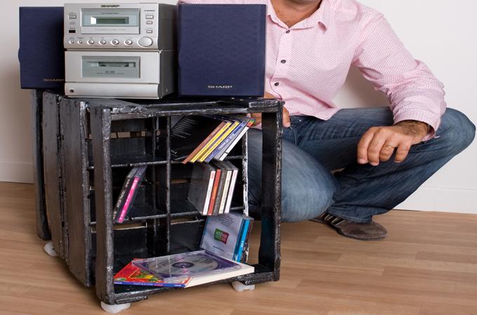 Transformer une caisse en range cd
