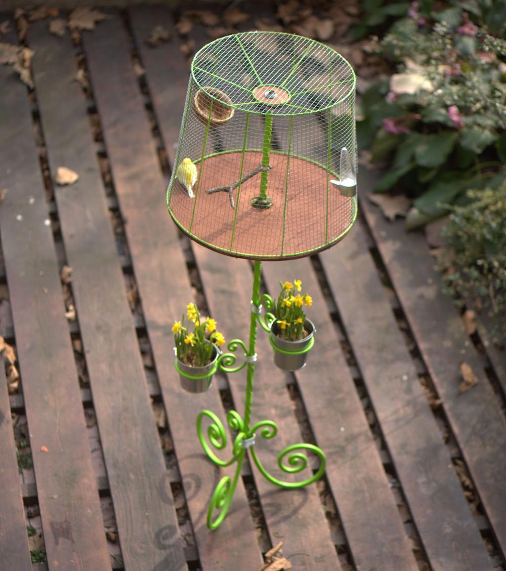 Transformer un lampadaire en cage
