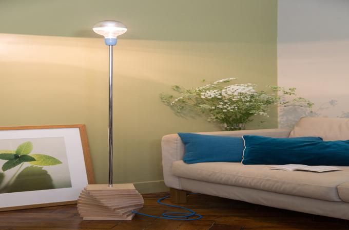 fabriquer un lampadaire d co diy family. Black Bedroom Furniture Sets. Home Design Ideas