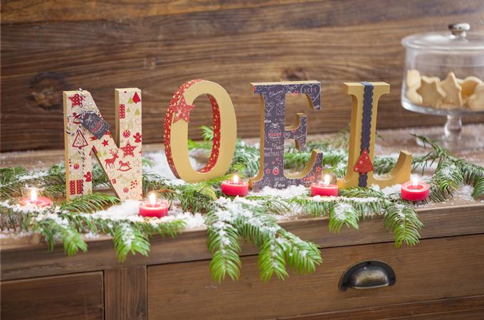 Customiser des lettres de Noel
