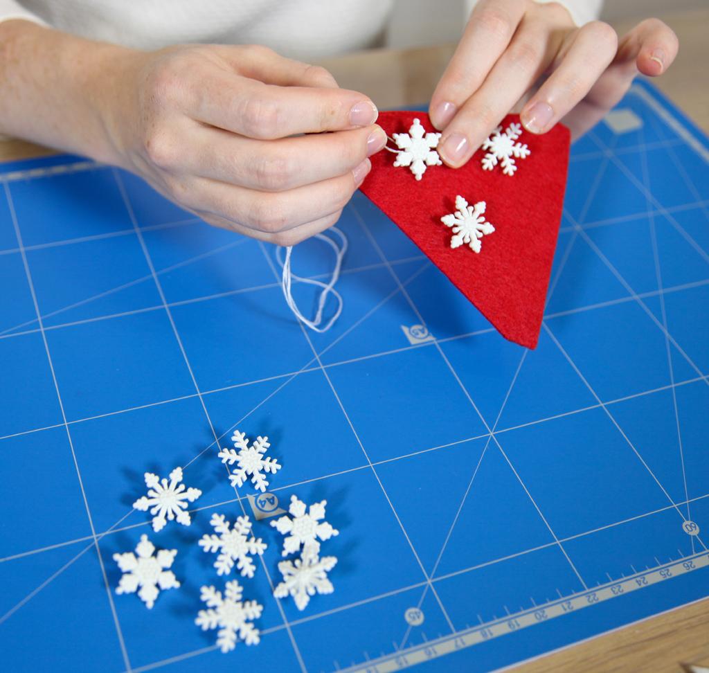 Fabriquer une guirlande de Noel
