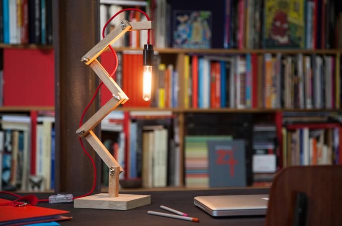 Creer une lampe zigzag