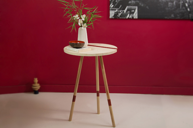Faire une table d'appoint Mikado