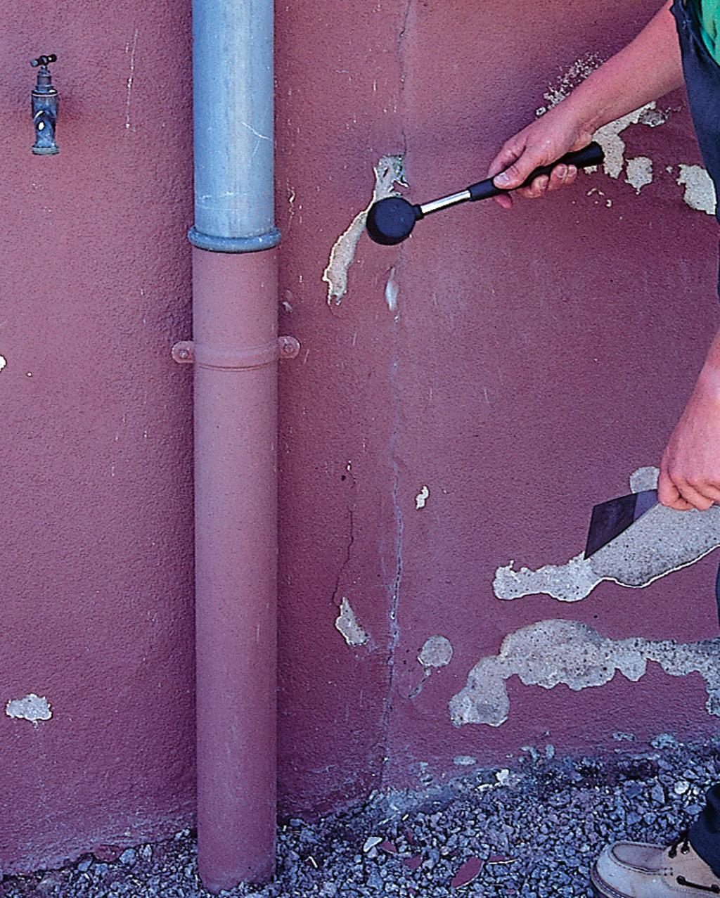 Réparer une façade abîmée